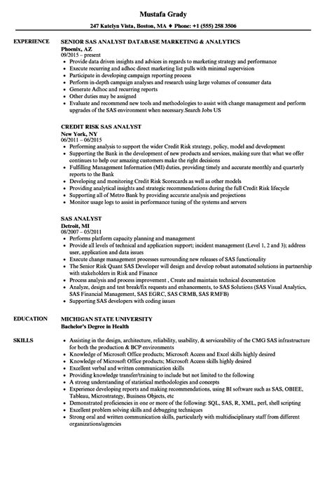 Sas Analyst Sle Resume by Sas Analyst Resume Sles Velvet