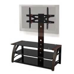 z line designs paris 3 in 1 black glass 60 quot tv stand with
