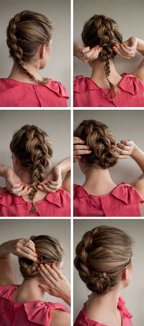 easy braids to do on yourself braided upstyle hair romance on latest hairstyles hair