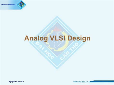 layout design vlsi ppt analog vlsi
