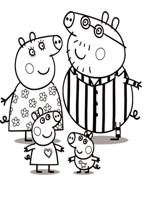 dibujos de navidad para colorear de peppa pig im 225 genes con dibujos de peppa pig para pintar y colorear
