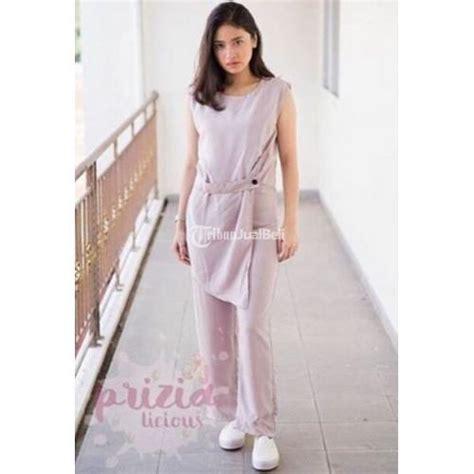 Jump Esther Murah Baju Cewek Grosir baju cewek jumpsuite elegan warna grey navy black jakarta dijual tribun jualbeli