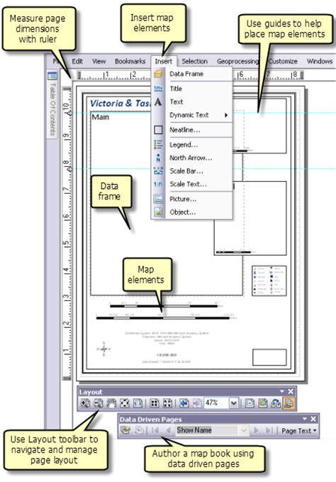 Arcgis Lock Layout Elements | a quick tour of page layouts help arcgis desktop