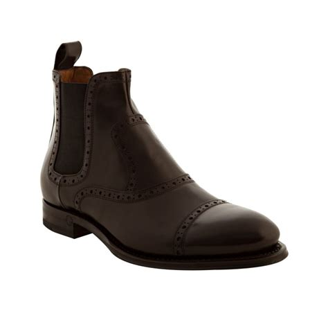 cambridge boots gucci brown tooled leather cambridge boots in brown