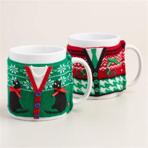 mugly sweater vest mugs set of 2 world market