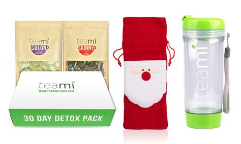 Teami 30 Day Detox Coupon by Teami 30 Day Detox Tea Pack With Tumbler And Santa Claus