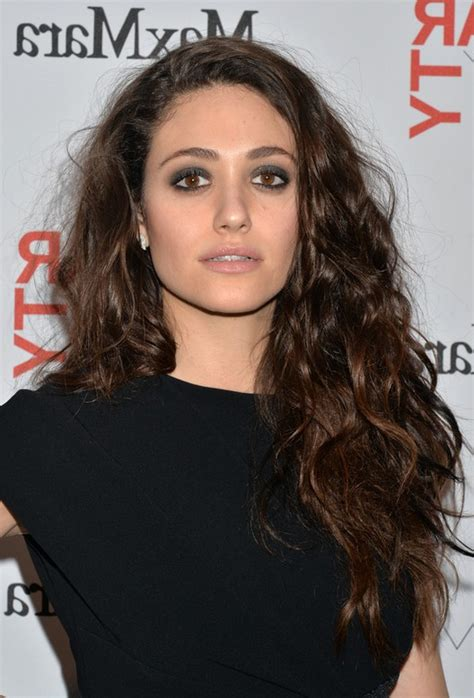 emmy rossum hair tutorial emmy rossum messy long hairstyle with tousled curls