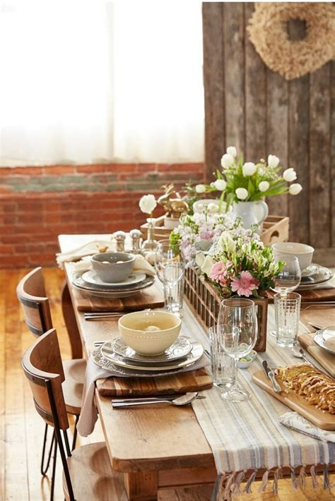gorgeous dining table behind the scenes at homegoods