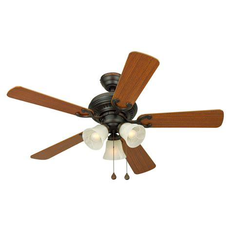 shop harbor bellevue 44 in aged bronze multi position ceiling fan with light kit at lowes