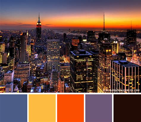 new york colors color palette new york skyline