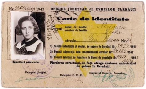 printable holocaust id cards jewish identification issues to jews during nazi rule