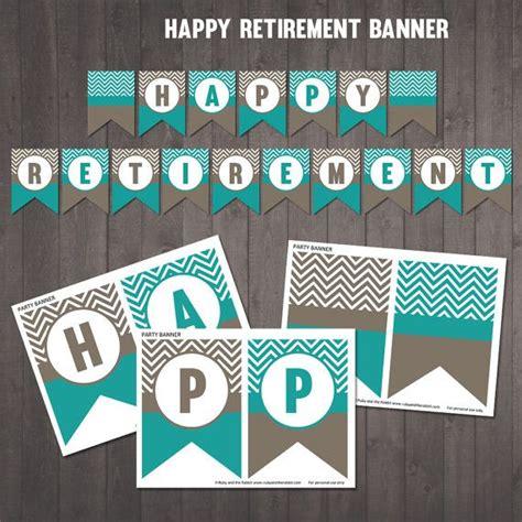 printable quot happy retirement banner chevron banner