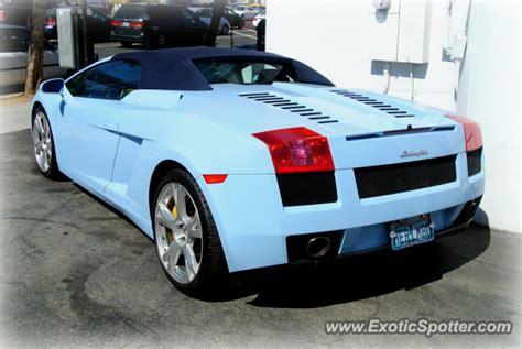 Los Angeles Lamborghini Lamborghini Gallardo Spotted In Los Angeles California On