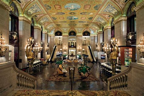 house lobby historic retreats the palmer house hotel in chicago
