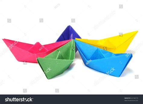 Origami Ship With Mast - origami ship with mast up origami ship white stock photo