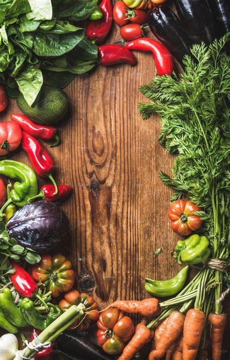 fresh raw vegetable ingredients food drink