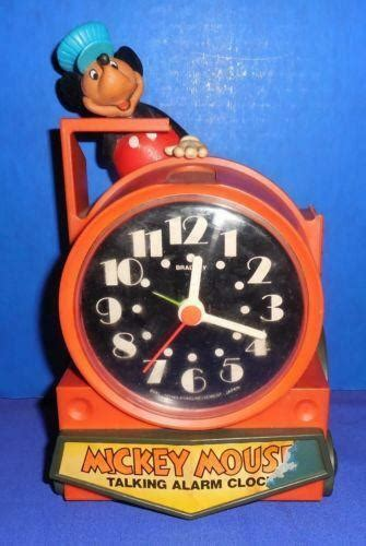 mickey mouse alarm clock ebay