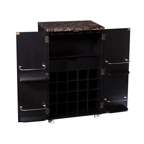 Black Bar Cabinet Southern Enterprises Cape Town Home Bar Cabinet In Black Hz1041
