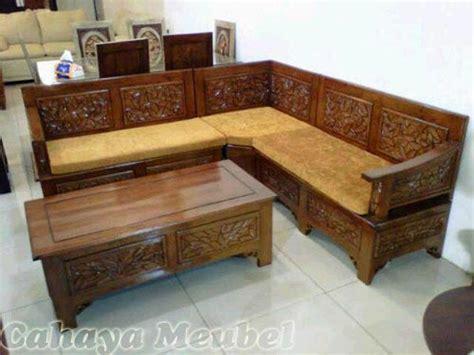 Kursi Sudut Kayu Jepara kursi tamu sudut kayu jati murah cahaya mebel jepara