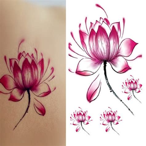 tattoo flower mural beautiful women lotus flower tattoo temporary tattoo