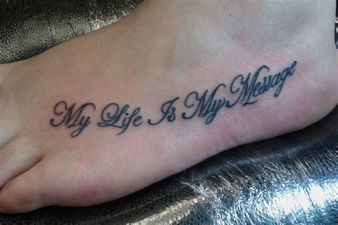 foot tattoo quotes quotes foot tattoos quotesgram