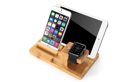 Get The Deal 5 Off Bamboo Multi Device Cords Organizer Stand | natural bamboo multi device charging station 81 off