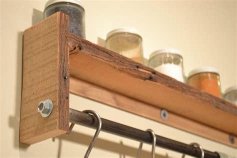 pot rack wall shelf spice rack reclaimed wood pot rack free