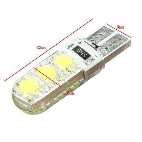 T10 15 Led Silicone Blitz t10 194 501 w5w silicone led piatto della lada della luce cuneo licenza lato vendita