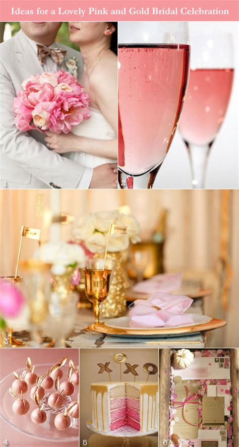 pink bridal shower themes 2 pink and gold ideas for a glamorous wedding shower shower gold weddings and inspiration