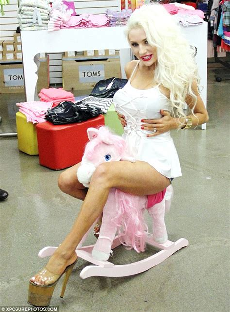 Courtney stodden totters into a children s clothing and toy store in