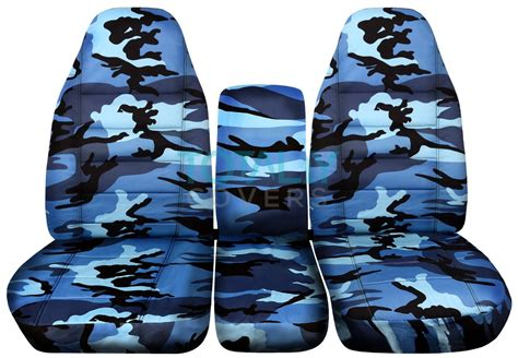 blue camouflage car seat covers 1994 2002 dodge ram 40 20 40 camo truck seat covers