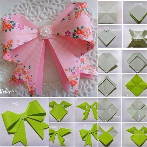 Origami Bows - diy origami bow diy crafts