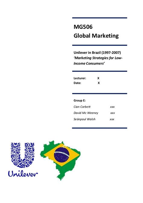 Unilever Insights Mba Internship by Unilever Brazil Study Solutions How To Write A