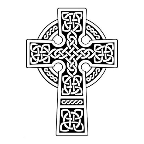 scottish gaelic celtic cross coloring pages best place