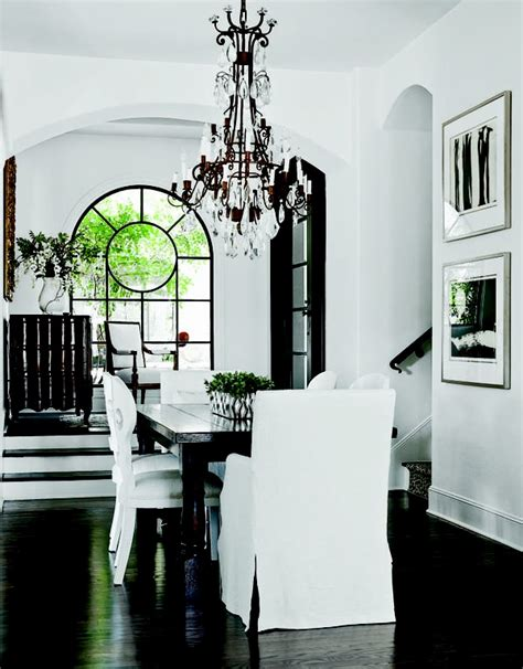 black and white kitchen and dining rooms dig this design