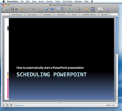 powerpoint tutorial on mac how to automatically start a powerpoint presentation