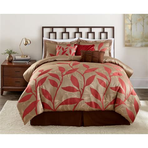 essential home comforter set essential home 7pc comforter set red vine
