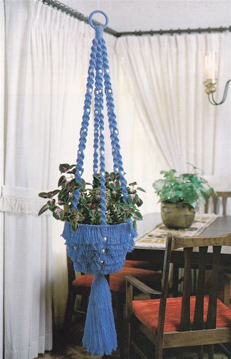 Macrame Plant Hanger Patterns - vintage macrame patterns curtain purse owl plant hanger