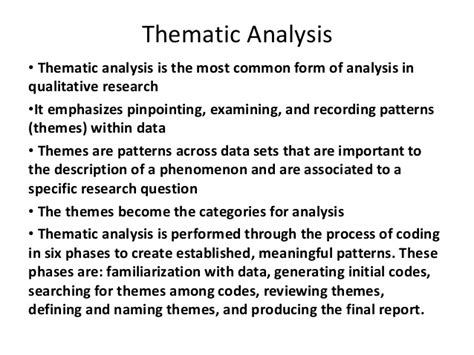 theme analysis definition thematic analysis