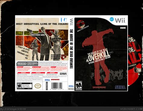 the house of the dead overkill the house of the dead overkill wii box art cover by legoslayer