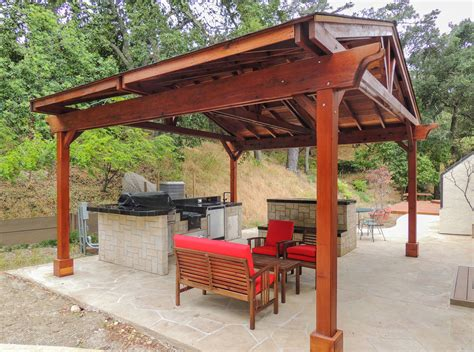 covered pergolas made of pure redwood outdoor ideas del norte pavilion kits built to last decades forever