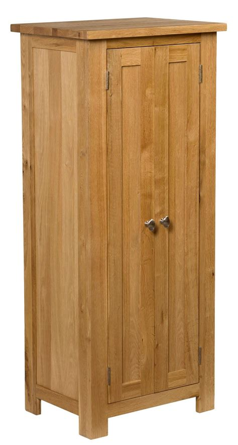 Waverly oak tall narrow cupboard ideal for compact spaces hallowood