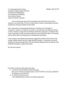 Gym Membership Cancellation Letter Format The Dartmouth Review 187 The Letter That Cancelled Classes