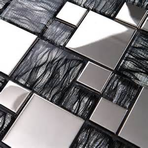 How To Install Kitchen Backsplash Tile silver metal aluminum plate mosaic dgwh062 tv living room