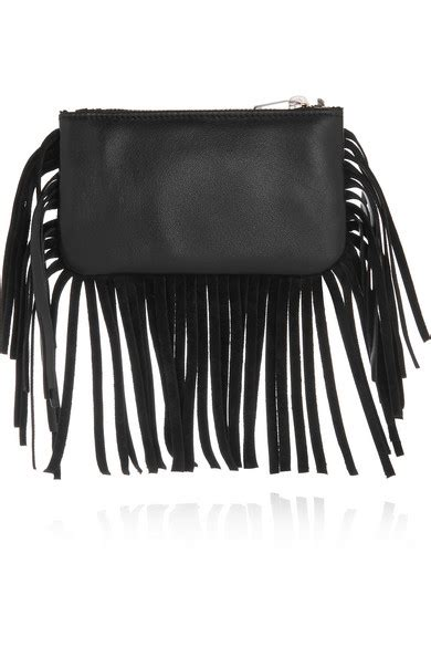 Ysl Silver Pouch By Arali Shop laurent monogramme small fringed leather pouch
