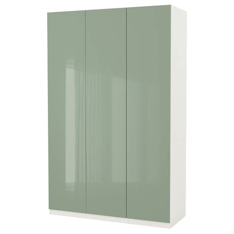 ikea pax fitted wardrobes pax wardrobe white fardal high gloss light green