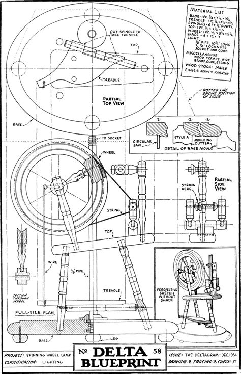 plans to build woodwork spinning wheel plans pdf plans