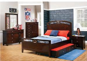 nfl playbook 5 pc panel bedroom bedroom sets wood