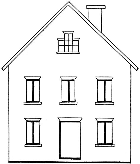 house draw drawing a house 1 clipart etc