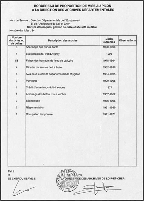 modele bordereau transmission document